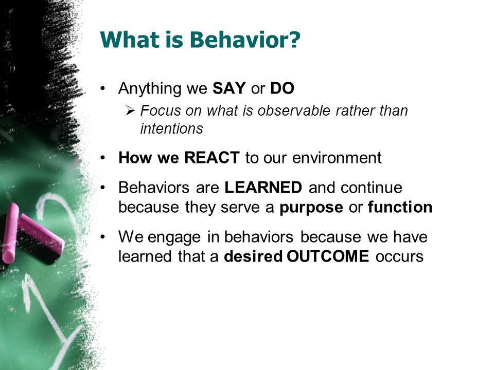 What is Behavior.