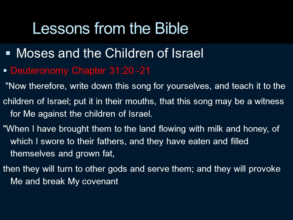 Lessons from the Bible  David and Solomon  David a man of war  During his reign he promoted pure worship  Solomon a man of peace  At the end of his reign idolatry and false worship began