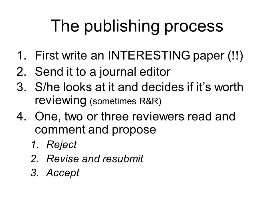Revise and resubmit Read the editor's and reviewers' comments briefly Put the paper aside for a week.