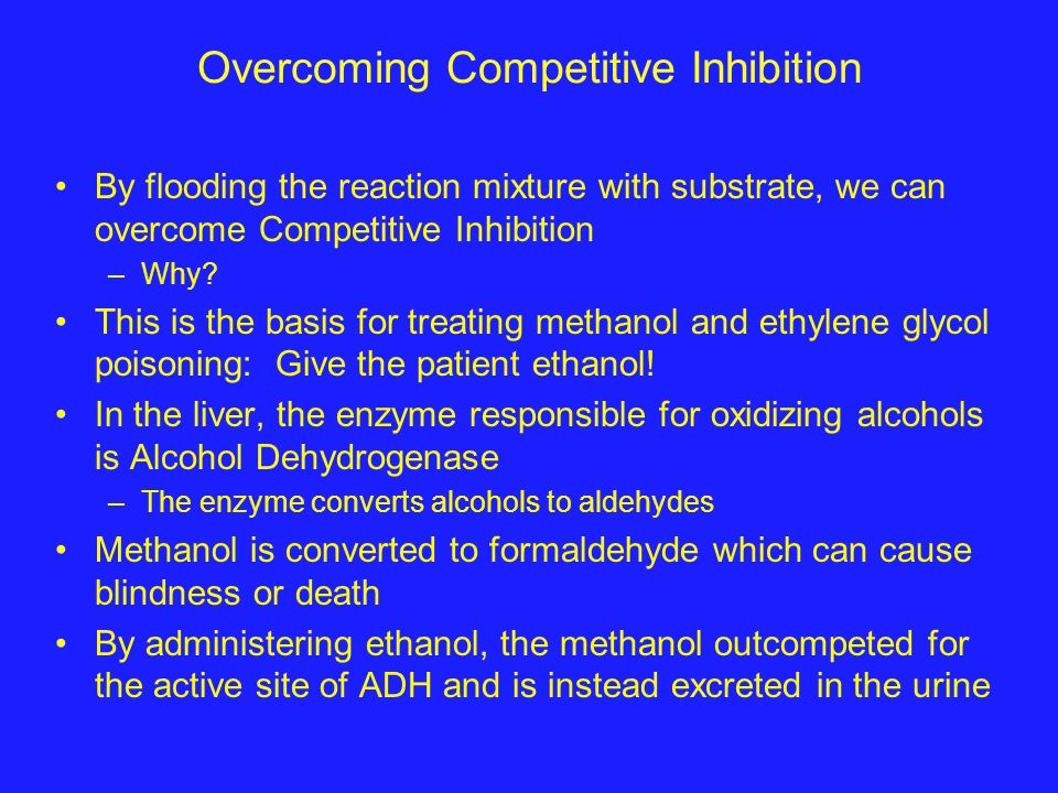 Noncompetitive Inhibition Also known as mixed inhibition A noncompetitive can bind to the free enzyme OR the enzyme/substrate complex –Noncompetitive inhibitors bind to sites in enzymes that participate in both substrate binding AND catalysis –Metal ions are frequently noncompetitive inhibitors
