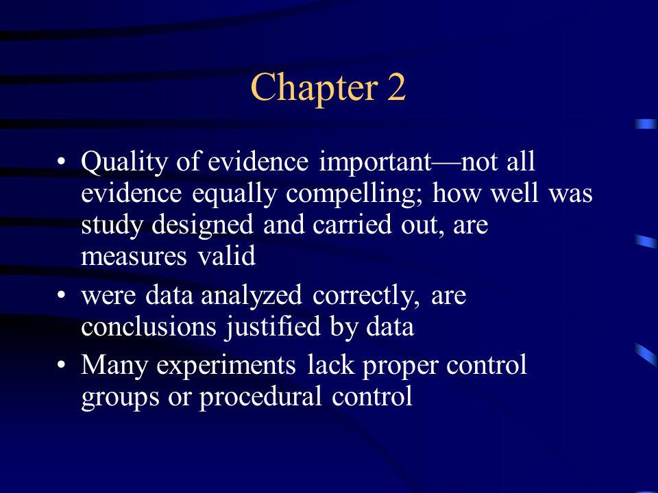 Chapter 2 Evidence vs.