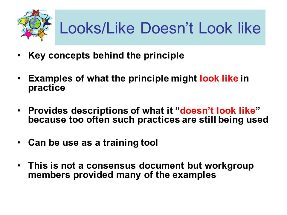 Example of A Principle & Key Concepts 5.