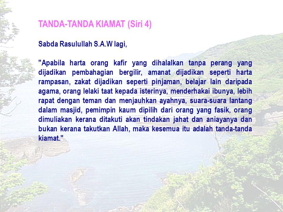 TANDA-TANDA KIAMAT KECIL (SIRI 5) Penaklukan Baitulmuqaddis.