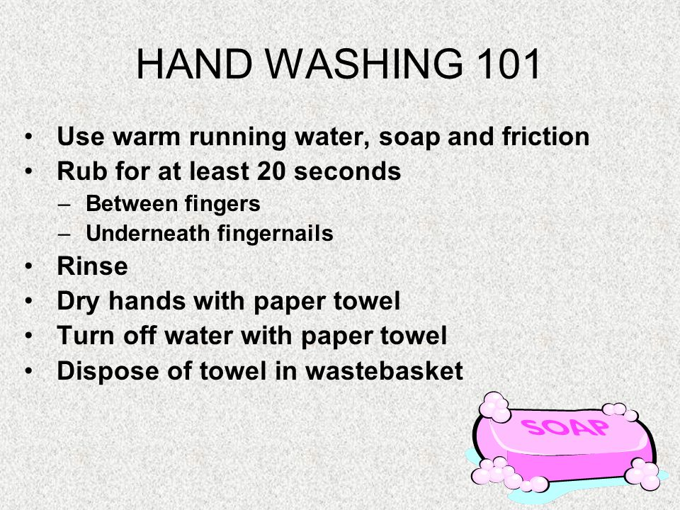 When to Wash When in doubt….WASH!