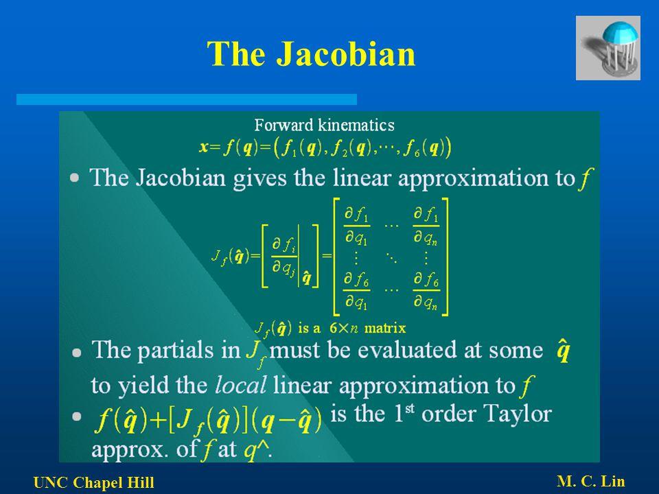 UNC Chapel Hill M. C. Lin The Jacobian
