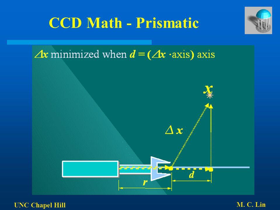 UNC Chapel Hill M. C. Lin CCD Math - Prismatic