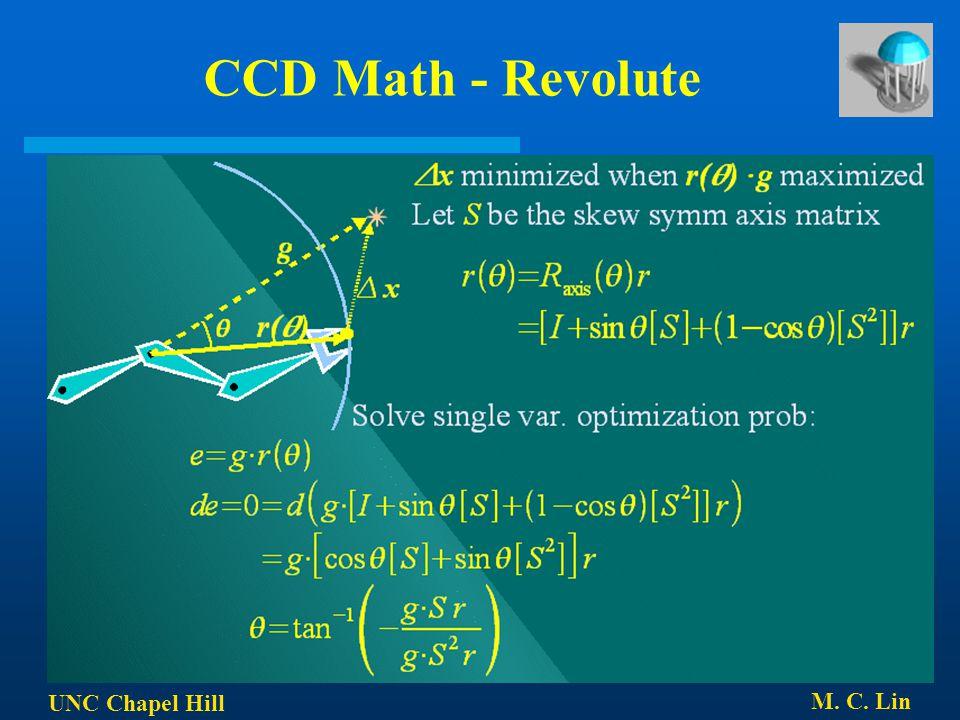 UNC Chapel Hill M. C. Lin CCD Math - Revolute