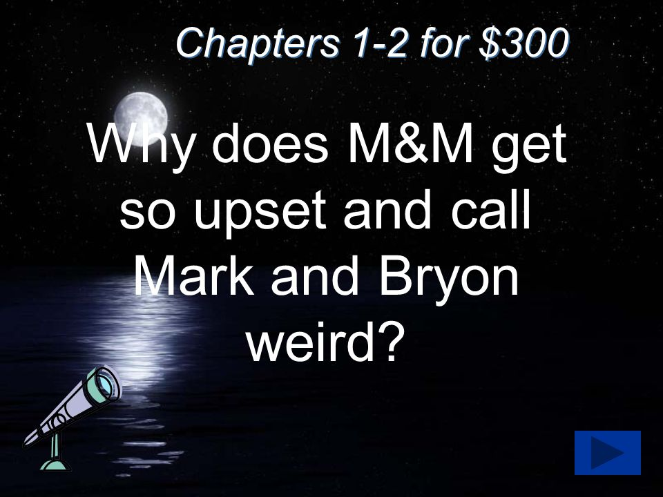 Answer for $300 Bryon starts hanging out with Cathy more and Mark gets jealous.