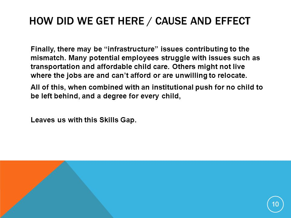 """Finally, there may be """"infrastructure"""" issues contributing to the mismatch. Many potential employees struggle with issues such as transportation and a"""