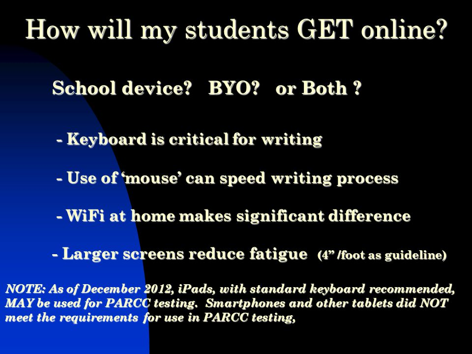 School device. BYO. or Both .