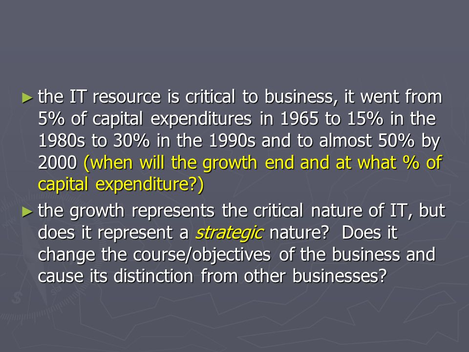 Carr Says ► Today, no one would dispute that information technology has become the backbone of commerce.