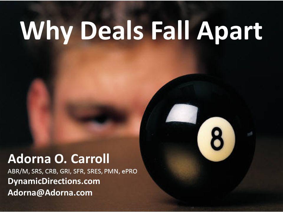 Why Deals Fall Apart Adorna O.