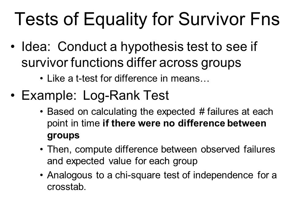 Log-rank Test Example: Do women marry earlier than men?.