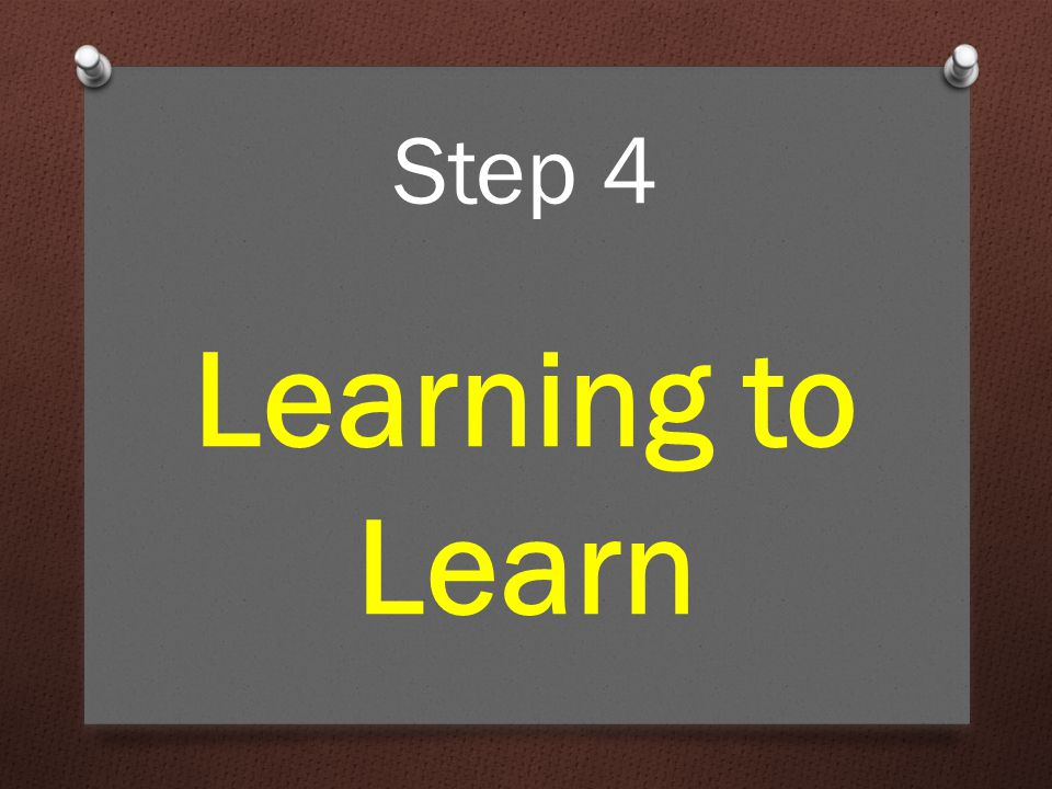 For a lot of people, learning doesn't come naturally. Learning to Learn