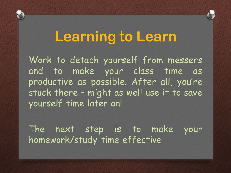Work to detach yourself from messers and to make your class time as productive as possible.
