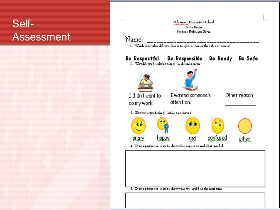Self- Assessment