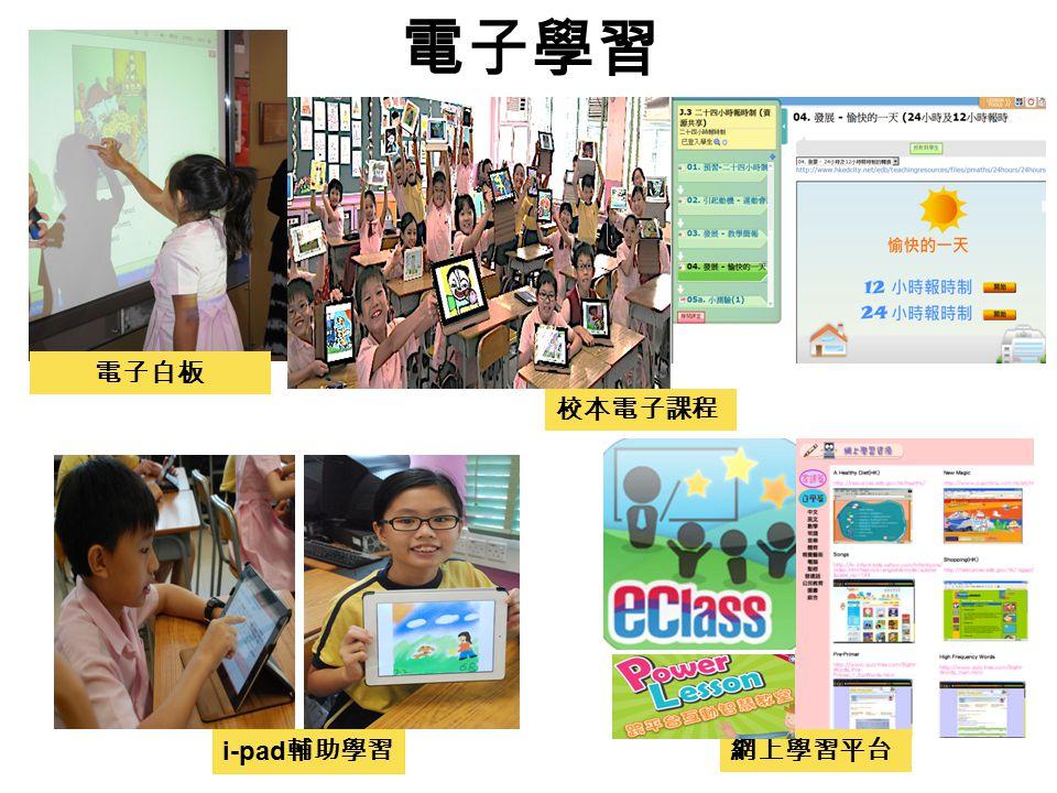 電子學習 電子白板 i-pad 輔助學習 校本電子課程 網上學習平台