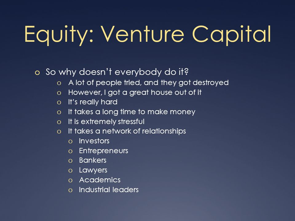 Equity: Angels o Bad points o Predictability.o Motives.