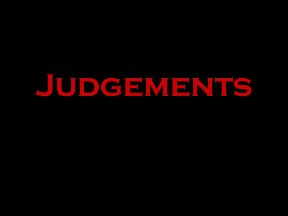 Judgements