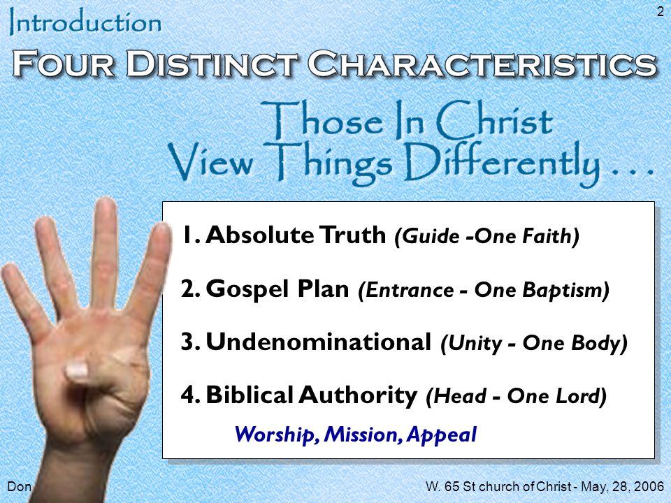 Don McClainW.65 St church of Christ - May, 28, 2006 33 Luke 8:11; Rom.