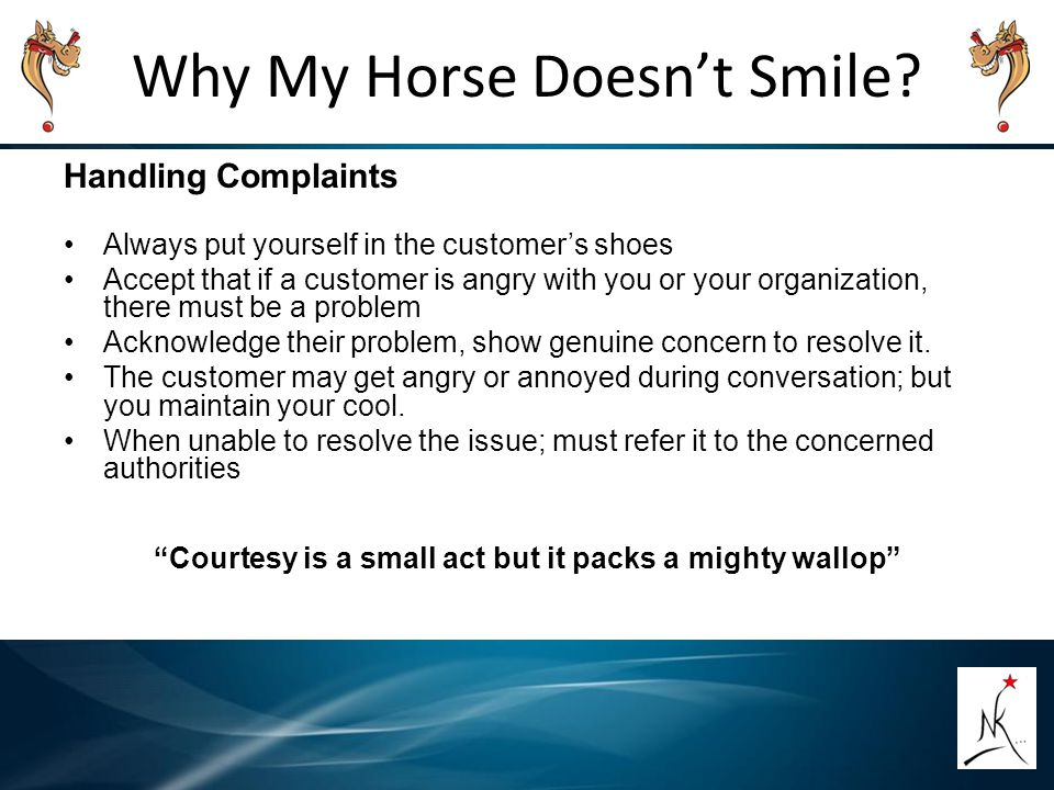Why My Horse Doesn't Smile.