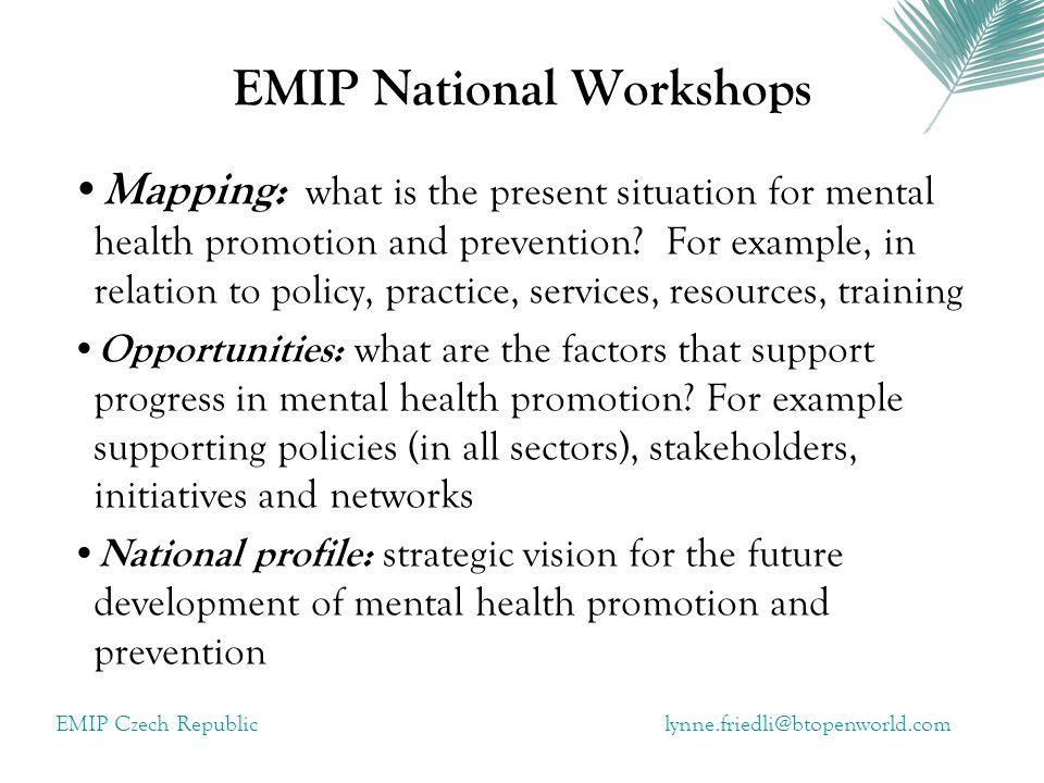 EMIP Czech Republiclynne.friedli@btopenworld.com notes for us all ….