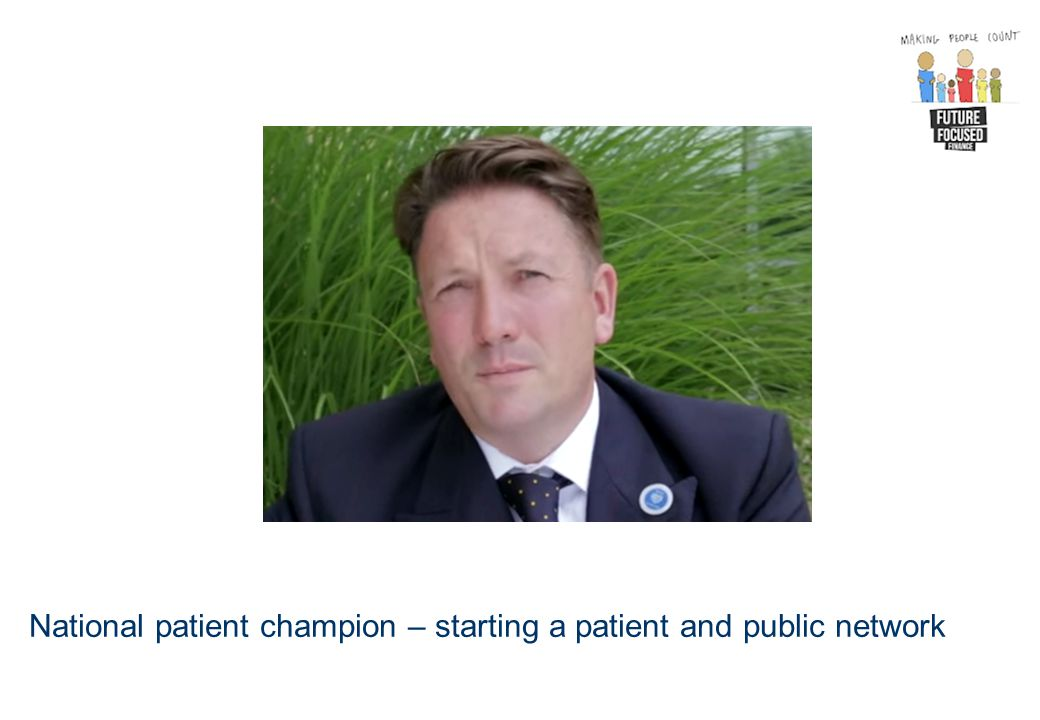 National patient champion – starting a patient and public network