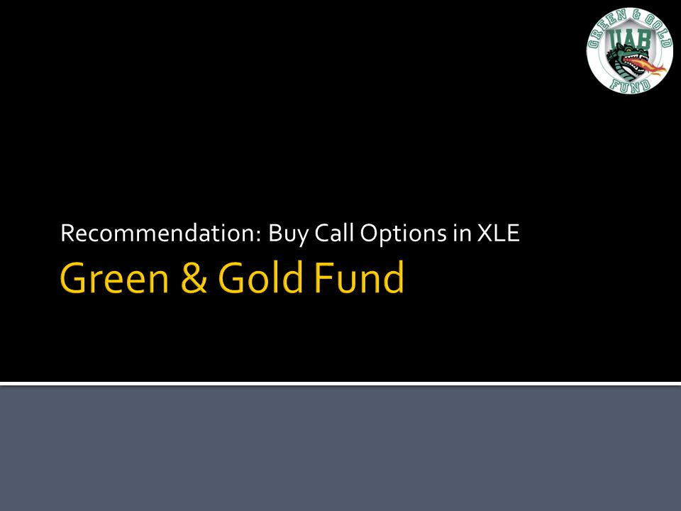 Recommendation: Buy Call Options in XLE