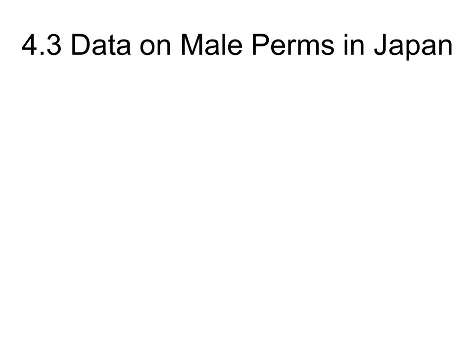 4.3 Data on Male Perms in Japan