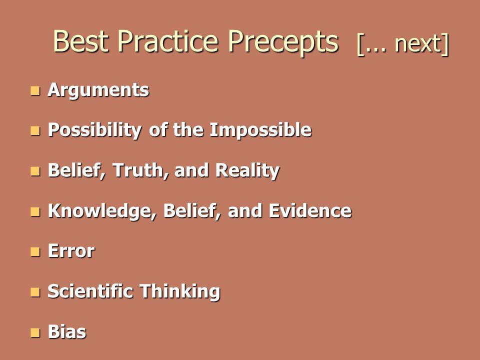 Best Practice Precepts [...