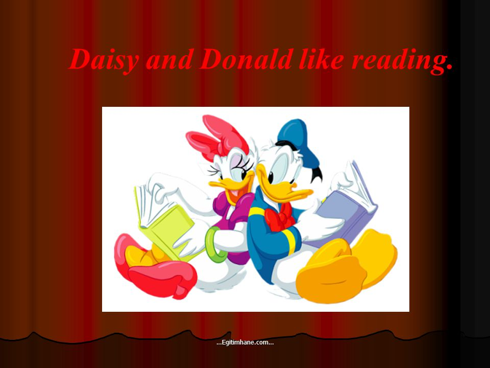 Daisy and Donald like reading. …Egitimhane.com…