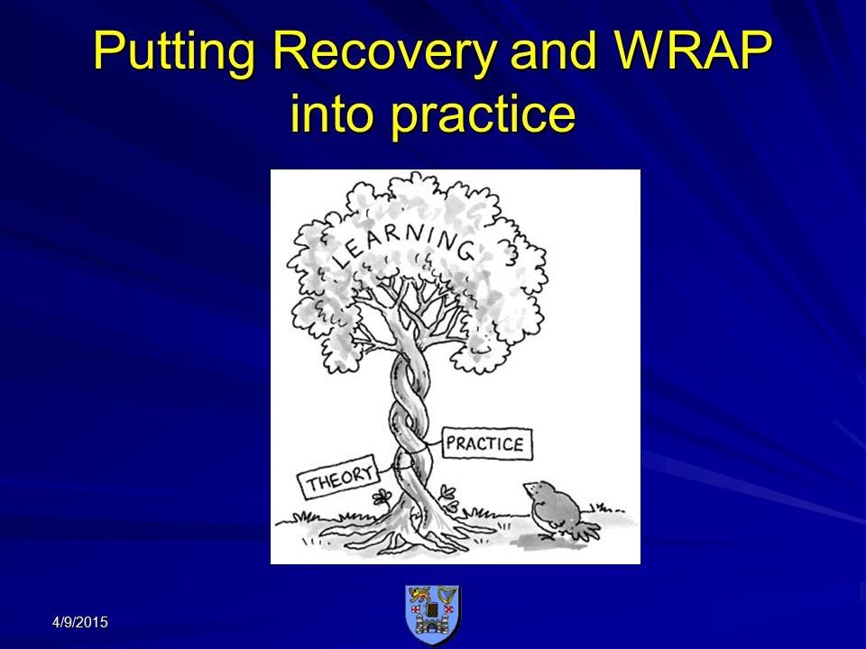 Putting Recovery and WRAP into practice 4/9/2015