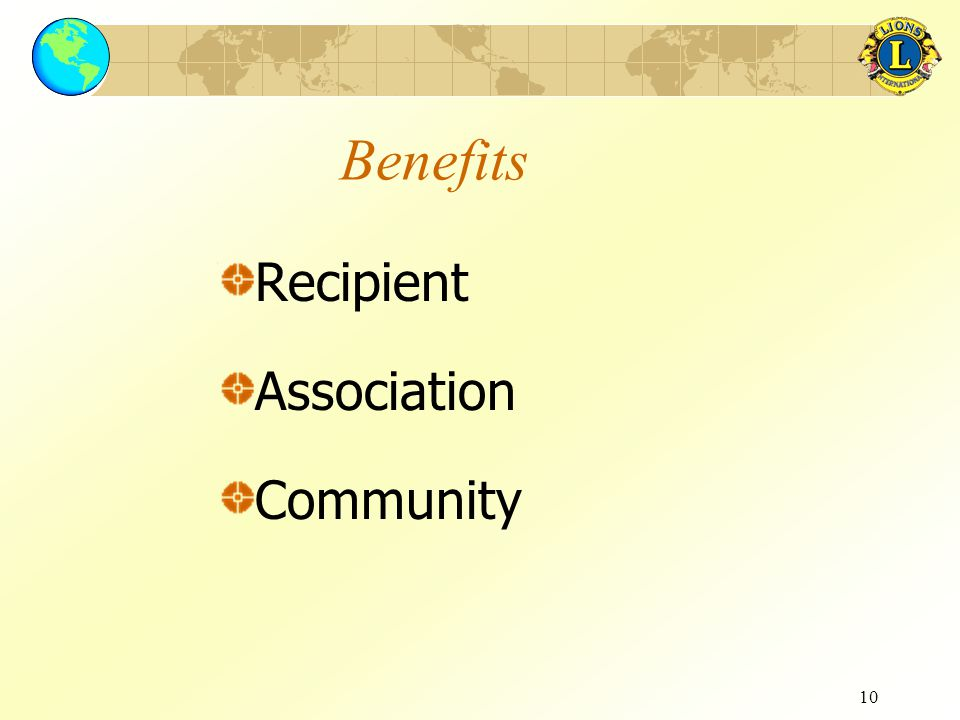 10 Benefits Recipient Association Community