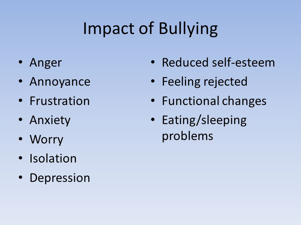 Reasons Low self-esteem Feelings or experiences of loss Difficulty adjusting to community living Fear
