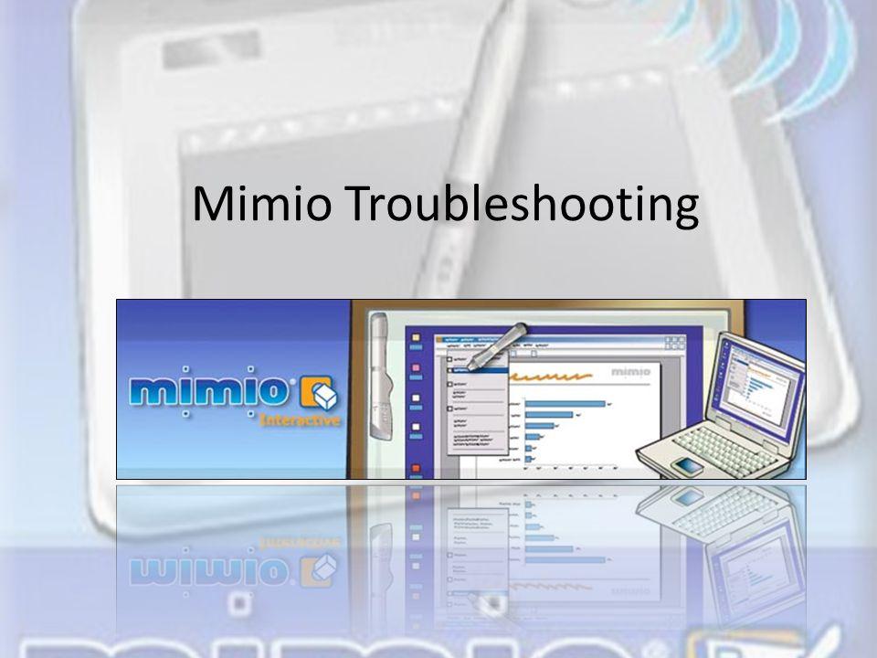 Mimio Troubleshooting