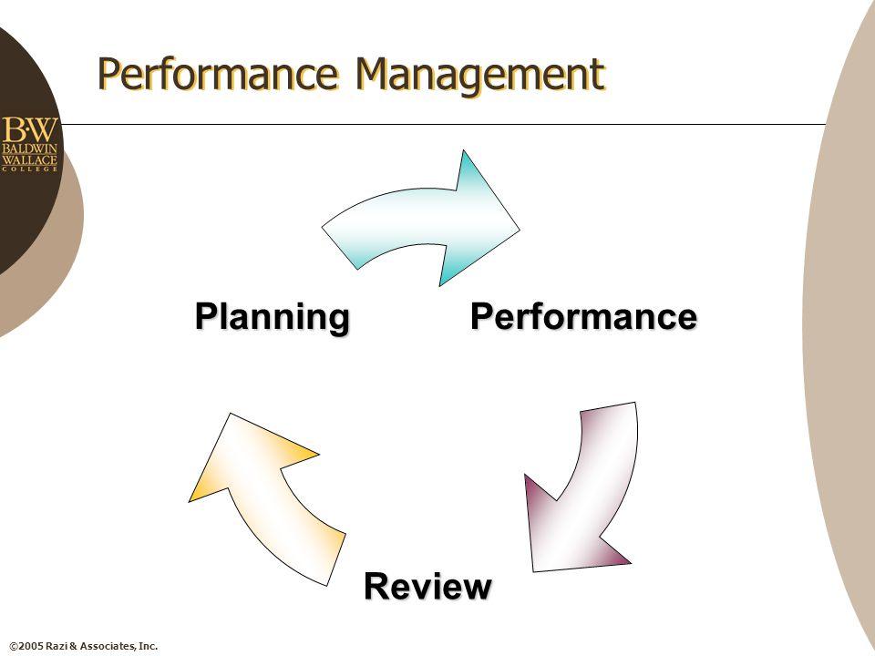 ©2005 Razi & Associates, Inc. Performance Management