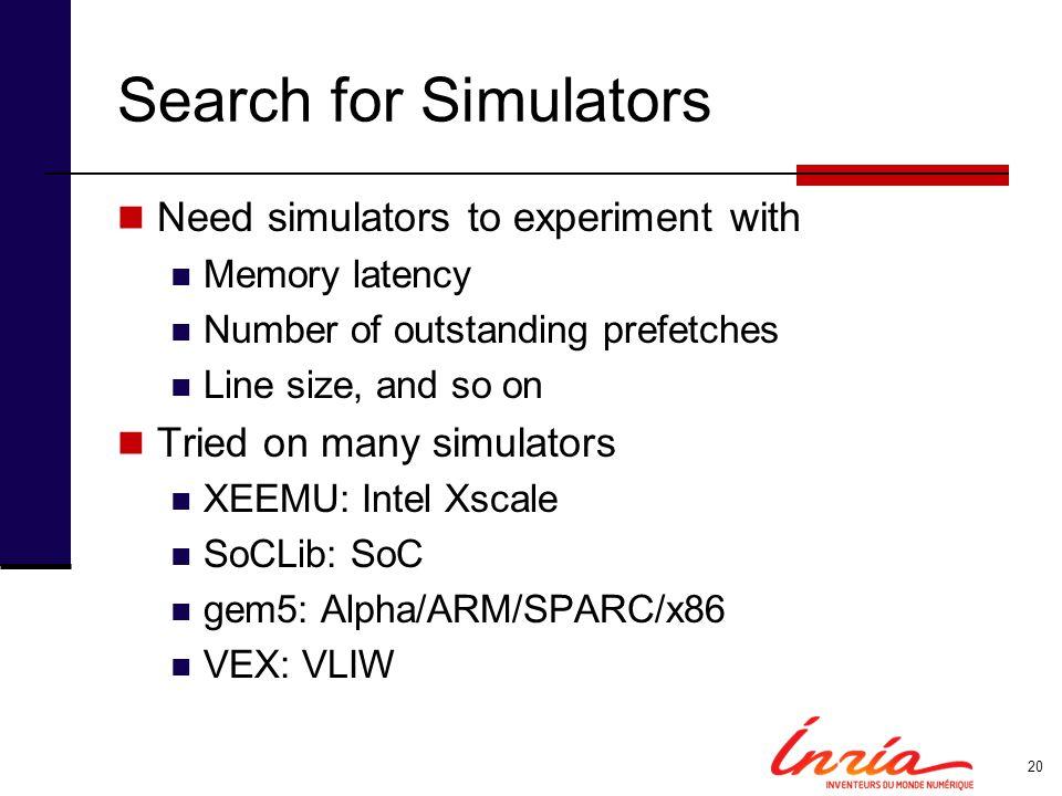Simulation with VEX (HP Labs) cyclesmissesprefetche s effectivespeedup original658k2015--- unroll610k2015--1.08 mowry551k102020009921.19 lex.