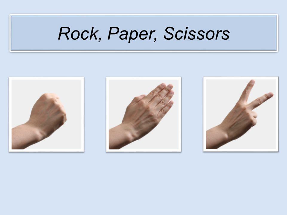 My choice Opponent's choice RockPaperScissors RockDrawLoseWin PaperWinDrawLose ScissorsLoseWinDraw