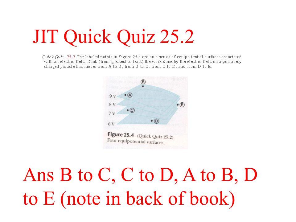 JIT Quick Quiz 25.1 Ans (i) b (ii) a