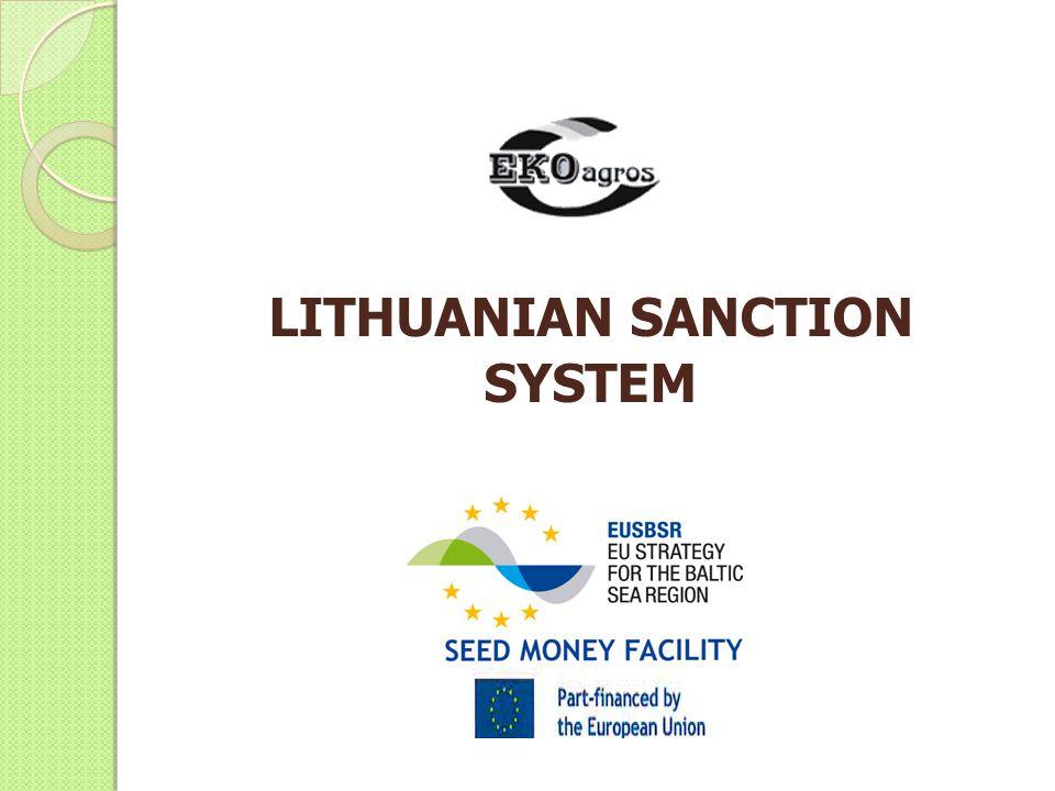 LITHUANIAN SANCTION SYSTEM