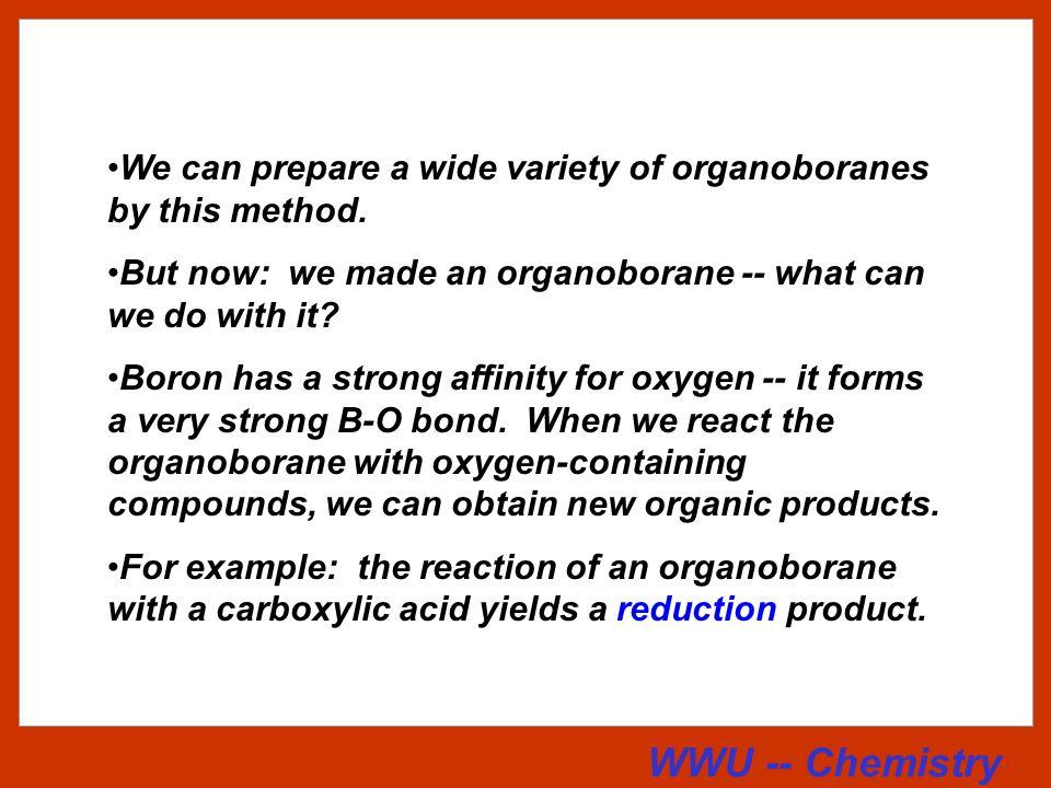 WWU -- Chemistry Stereochemistry of Hydroboration