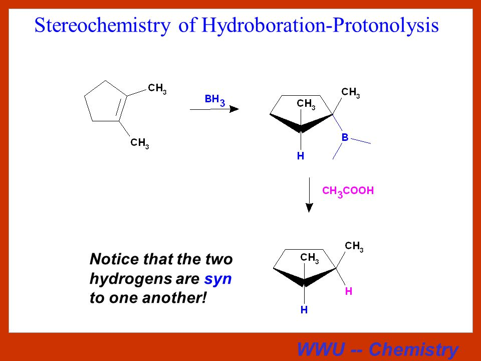 WWU -- Chemistry Mechanism of Protonolysis