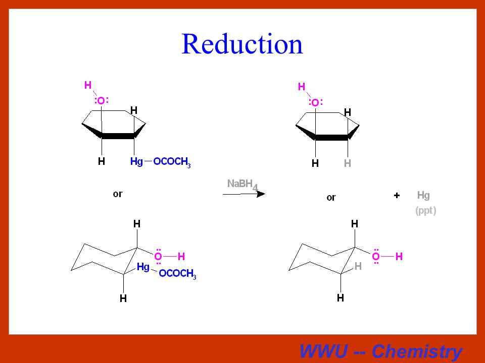 WWU -- Chemistry Summary of Hydroboration Reactions Each of these additions is stereospecifically a syn addition.