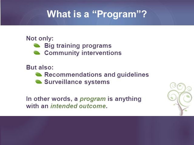 What is a Program .