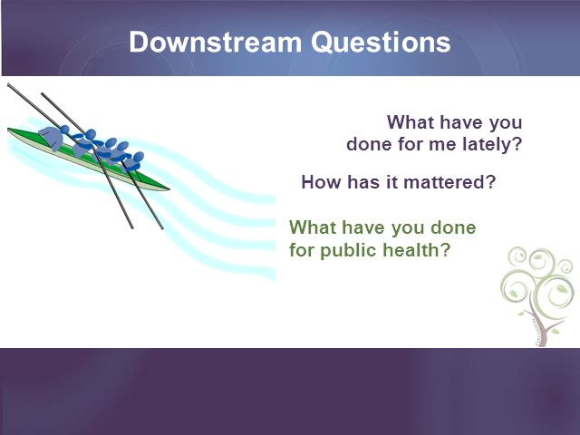Downstream Questions What have you done for me lately.