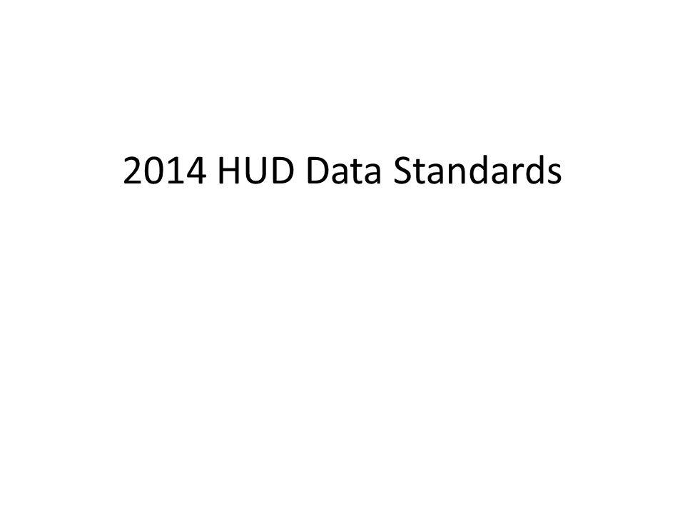2014 HUD Data Standards