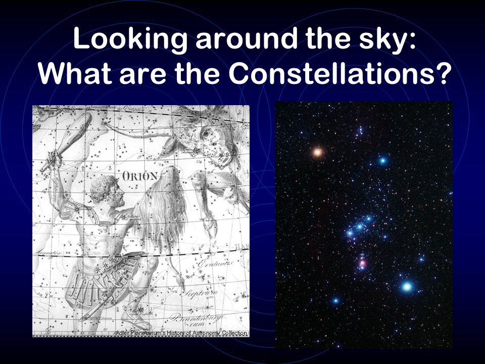 Looking around the sky: What are the Constellations