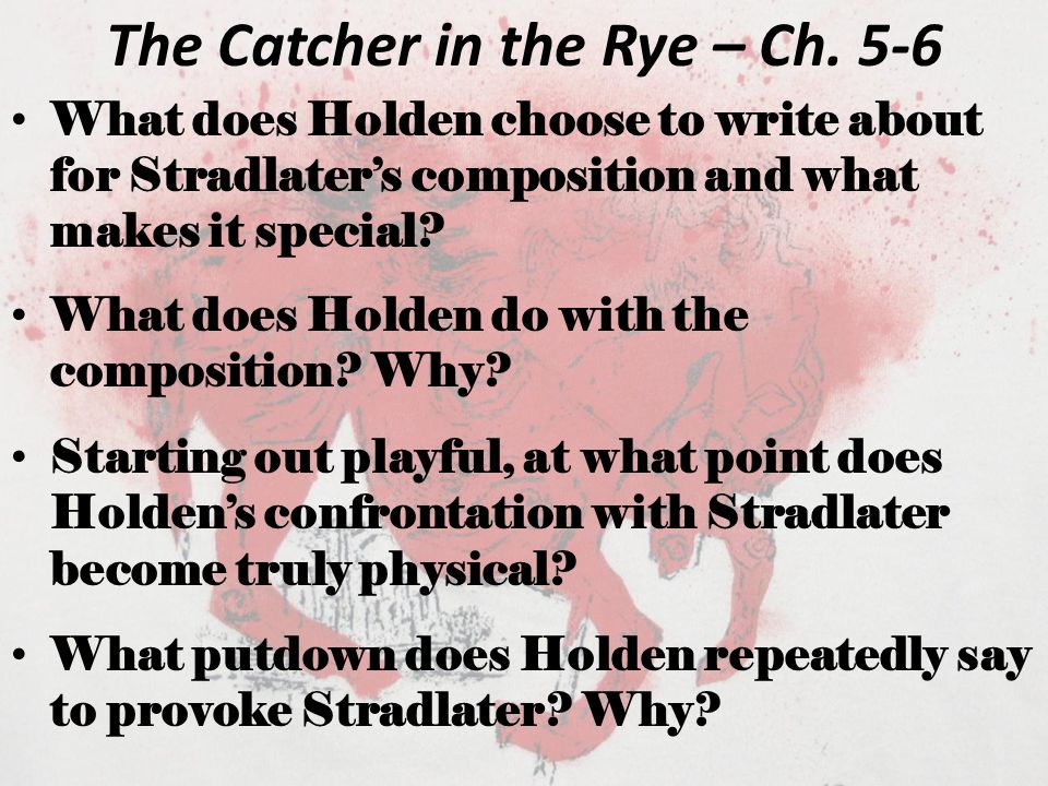 The Catcher in the Rye – Ch.