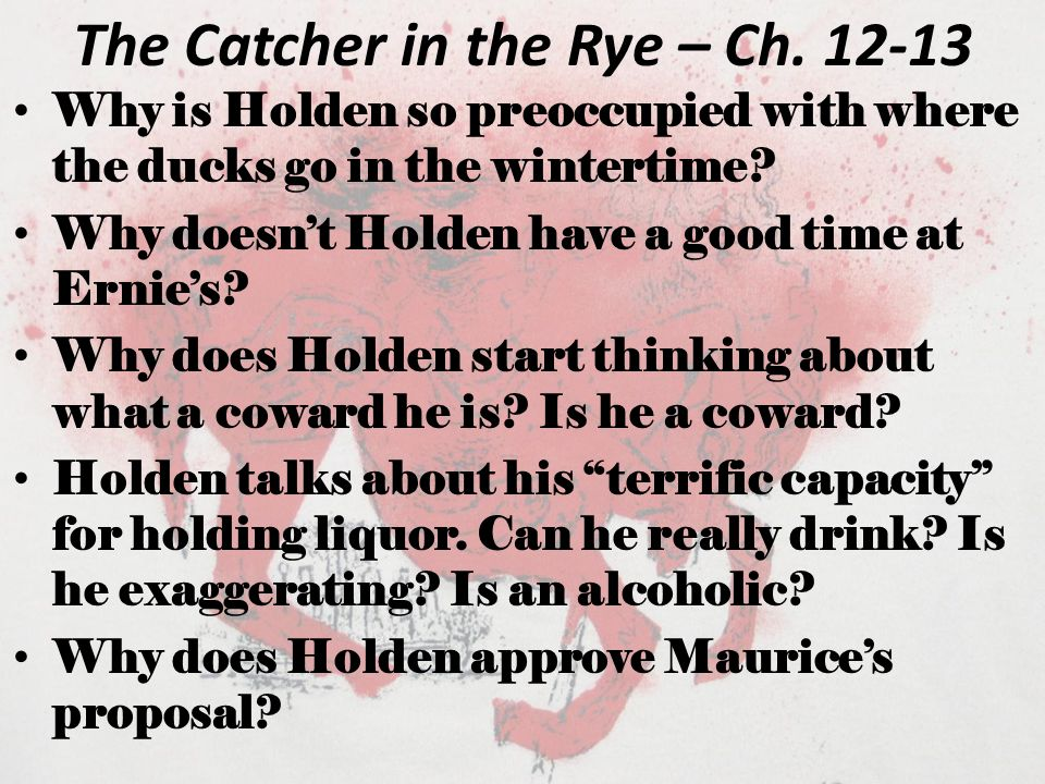 The Catcher in the Rye – Ch. 13 What effect does Sunny have on Holden?