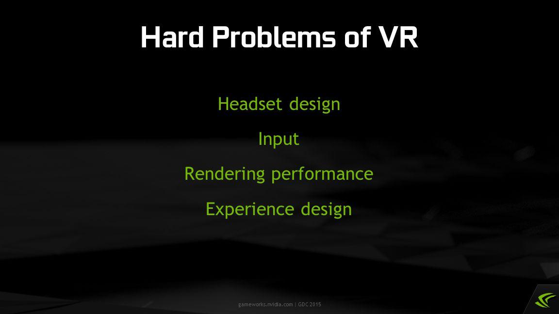 gameworks.nvidia.com | GDC 2015 VR SLI APIEngine Per-GPU state: Constant buffers Viewports